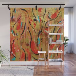 Gold Dancer Wall Mural