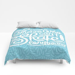 Those Who Can't Skate Longboard Comforters