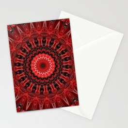 Mandala deep red Stationery Cards