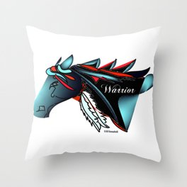 """Warrior"" Throw Pillow"