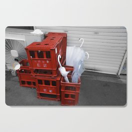 red crates Cutting Board