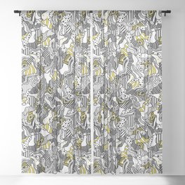 Acrid State of Mind Pattern Sheer Curtain
