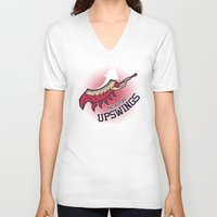 monster hunter V-neck T-shirts featuring Monster Hunter All Stars - The Kotoko Upswings  by Bleached ink