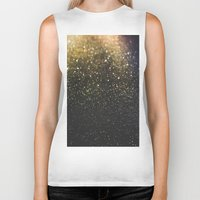 sparkle Biker Tanks featuring Sparkle by Jane Lacey Smith