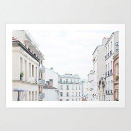 Paris France Sunny Day Skyline Buildings Art Print