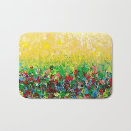 NATURE'S LIVING ROOM - Gorgeous Bright Bold Nature Wildflower Field Landscape Abstract Art New 2012 Bath Mat