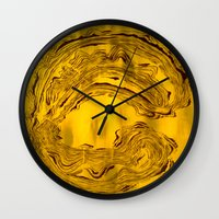 hook Wall Clocks featuring Hook  by Anne Powers