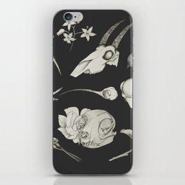 Bones and Botanical Sketches iPhone Skin
