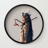 witch Wall Clocks featuring Witch by Nioko