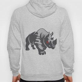 Angry rhino Hoody