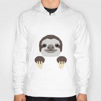 sloth Hoodies featuring Sloth by Aaron Keshen