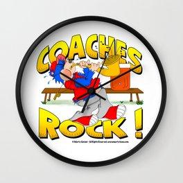 Coaches Rock Wall Clock