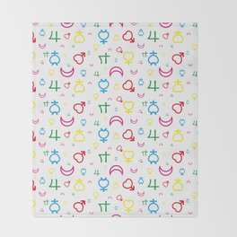 Sailor Moon - Texture Inner Senshi Throw Blanket