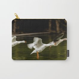 Landing of ducks on the lake of Palermo. Carry-All Pouch