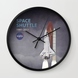 Space Shuttle Wall Clock