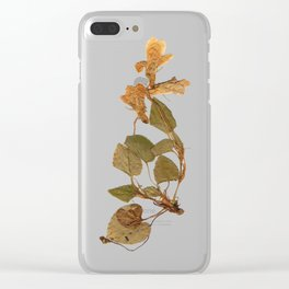 Wild gold flowers Clear iPhone Case