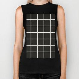 Simple black and white grid | Biker Tank