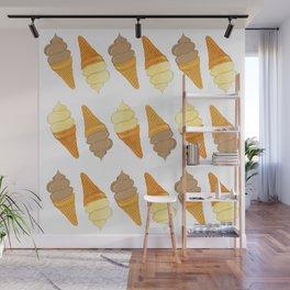 icecream pattern Wall Mural
