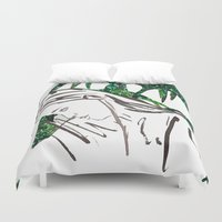 human Duvet Covers featuring Human by Kats Illustration