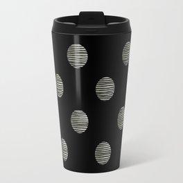 Black and white polka dots Travel Mug