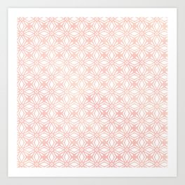 DIAMOND WATERCOLOR CORAL BLUSH Art Print
