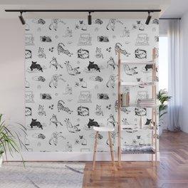 Cat Things Wall Mural