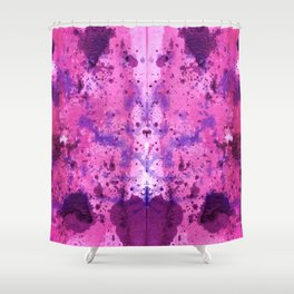 Purple Frenchy Heart Shower Curtain