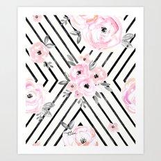 Blush Roses Mod Art Print
