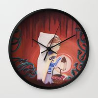 uncharted Wall Clocks featuring Uncharted by Sarah Calvillo
