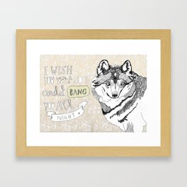 I wish you were a door Framed Art Print