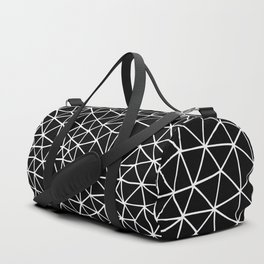 Connectivity - White on Black Duffle Bag