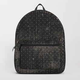 Vintage geometrical black brown polka dots pattern Backpack