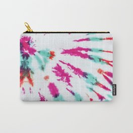 Summer Artsy Girly Neon Teal Pink Tie Dye Pattern Carry-All Pouch