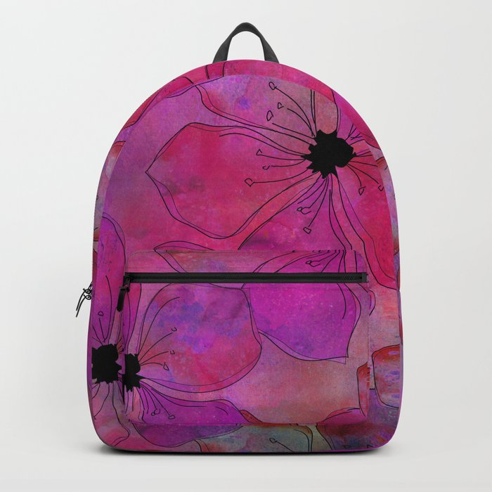 Amazing Pink watercolor floral art Backpack