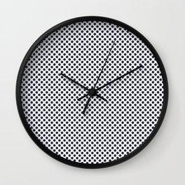 Peacoat Polka Dots Wall Clock