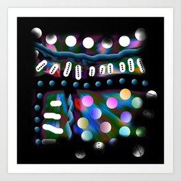 Multitude colorée Art Print