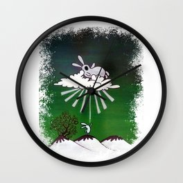The big bunny in the sky Wall Clock