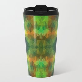 Triangles design in green colors Travel Mug