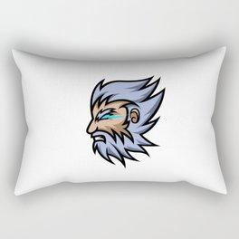 Zeus God Lightning Mascot Sport Gaming Esport Logo Template Thick Beard Mustache Squad Team Club Rectangular Pillow