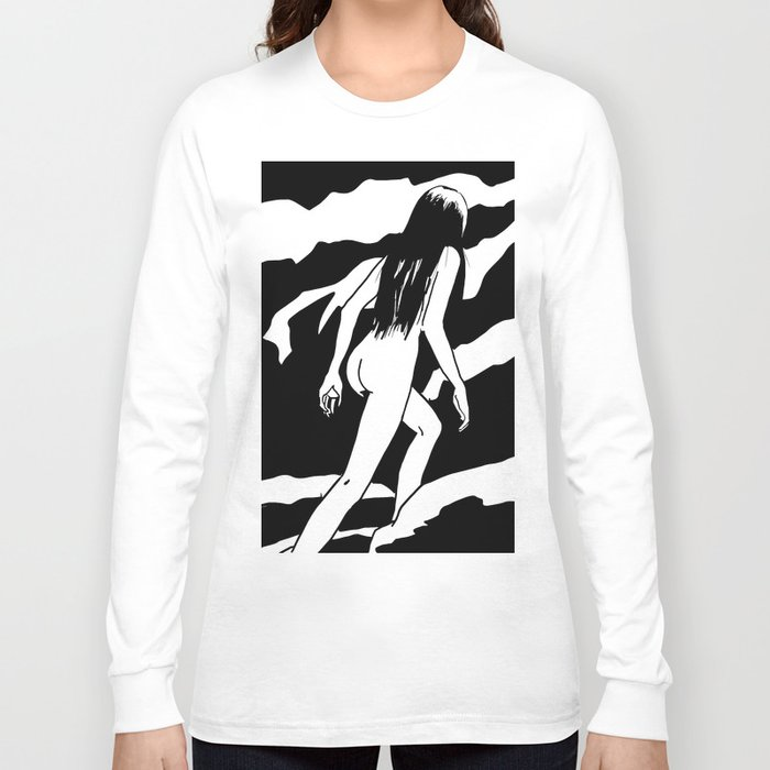 Nude ascending cliff Long Sleeve T-shirt
