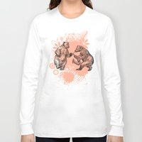 bears Long Sleeve T-shirts featuring Bears by Natalie Berman