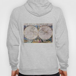 Vintage Map of The World (1700) Hoody