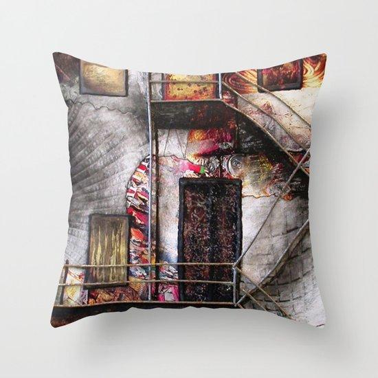 Urban Building Throw Pillow