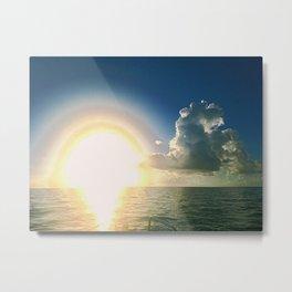 Sunrise Layers Metal Print