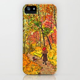 Let your fall be bright iPhone Case