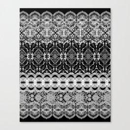 Lace Spilt Sugar Design Canvas Print
