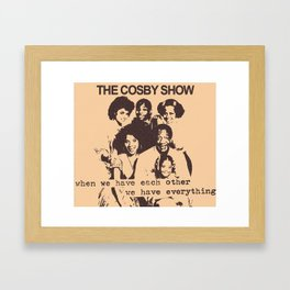 The Cosby Have No Pride Framed Art Print