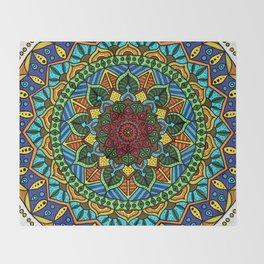 Circle of Life Mandala full color Throw Blanket