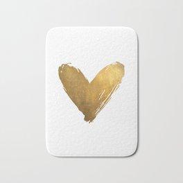 Heart of Gold Bath Mat
