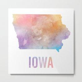 Watercolor State - IA Metal Print